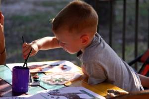 Willa Kaskada dla dzieci - malowanie farbami
