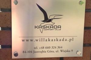Willa Kaskada - tabliczka
