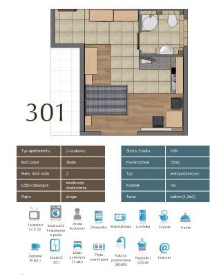 Karta apartementu 301