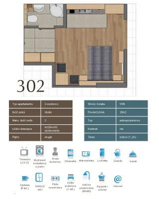 Karta apartementu 302