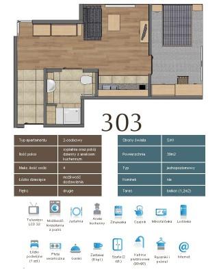 Karta apartementu 303
