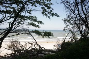 Plaża - widok zLisiego Jaru