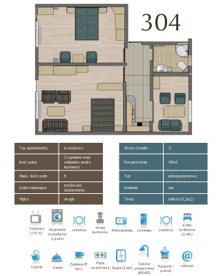 Karta apartementu 304