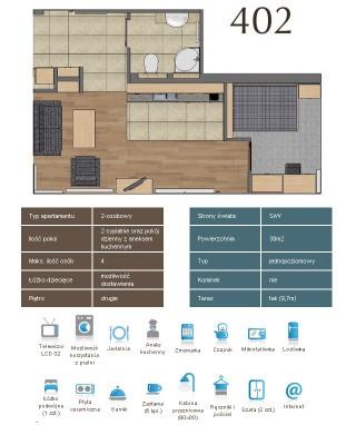 Karta apartementu 402