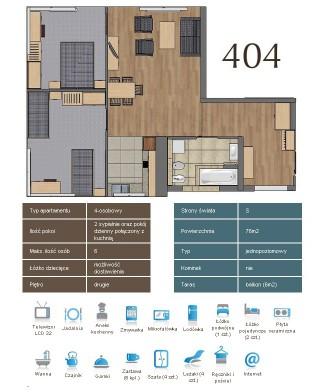 Karta apartementu 404