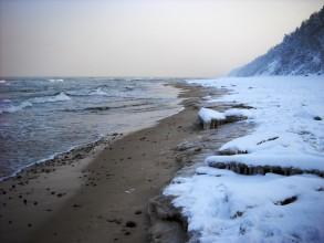 Zimowa Plaża - Morze Bałtyckie - Jastrzębia Góra